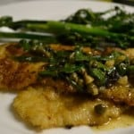Dover Sole with Wine Caper Sauce