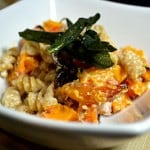Roasted Butternut Squash with Creamy Pasta and Pancetta