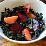 Winter Farmers Market Kale Salad