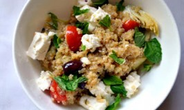 Greek Infused Quinoa Salad for Passover
