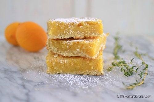 Lemon Thyme Bars