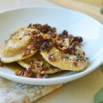 Homemade Pumpkin-Ricotta Ravioli with Brown Butter Walnut Sauce