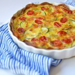 Vegetable and Pancetta Quiche with Potato Crust on LittleFerraroKitchen.com #GlutenFree