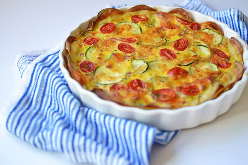 Vegetable and Pancetta Quiche with Potato Crust | The Little Ferraro ...