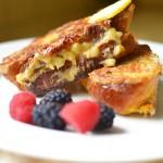 Banana Stuffed Challah French Toast