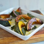 Roasted Kabocha Squash with Coconut Oil and Fried Sage