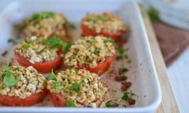 Matzo and Herbed Stuffed Tomatoes for Passover