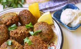 Homemade Falafel with Tahini-Yogurt