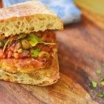 Chicken Puttanesca Sandwich