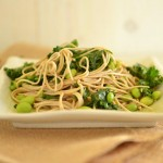 Peanut Soba Noodles with Kale and Edamame