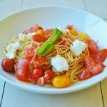 Heirloom Tomato Pomodoro with Whole Wheat Pasta for #SummerPastabilities