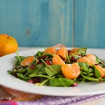 Spinach Pomegranate Salad with Pumpkin Vinaigrette