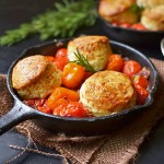 Tomato Cobbler with Rosemary and Gruyere Biscuits