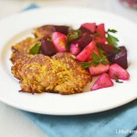 Butternut Squash Latkes with a Chunky Apple Beet Salsa