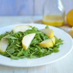 Pear and Arugula Salad with Parmesan Dressing