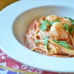 Easy Pasta with Tomato Mascarpone Sauce and Scallops