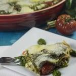 Heirloom Tomato and Spinach Basil Pesto Lasagna