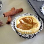 Petite Pumpkin Swirl Cheesecakes