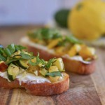 Roasted Vegetable Bruschetta and Giveaway