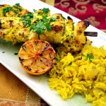 A Bright and Cheerful Feast: Turmeric-Yogurt Marinated Chicken with Saffron Jasmine Rice