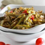 Roasted Green Beans with Shallots and Cherry Tomatoes {Guest Post}