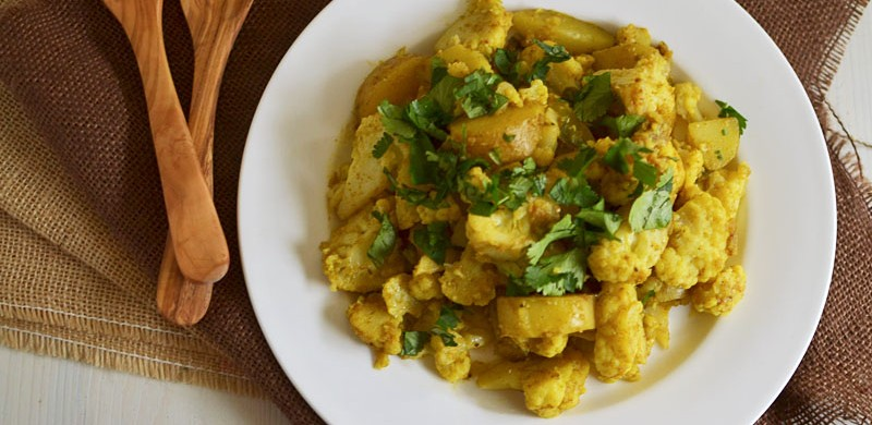 Aloo Gobi (Indian Spiced Cauliflower)