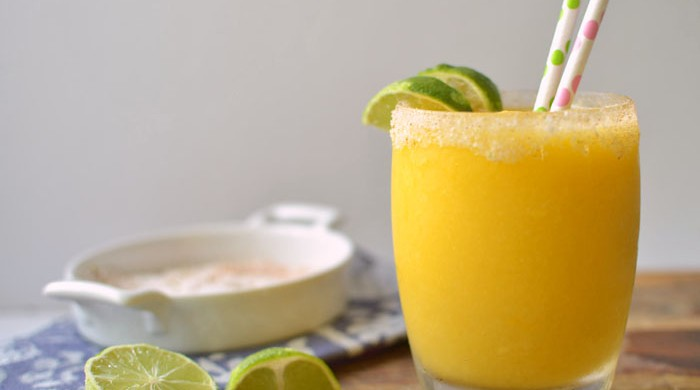 Chili-Lime Mango Margarita via LittleFerraroKitchen.com