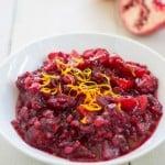 Apple-Pomegranate Cranberry Sauce