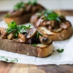 Roasted Mushroom Crostini with Wine and Herbs #Giveaway