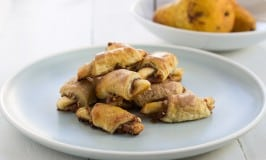 Wine Poached Pear and Almond Rugelach for #ChristmasWeek #Freund