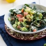 Chopped Kale and Chickpea Salad with Creamy Tahini Dressing