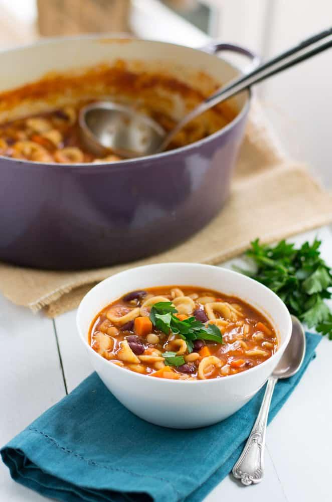 Vegetarian Pasta Fagioli