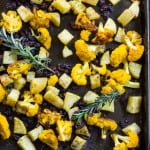 Roasted Cauliflower with Rosemary and Raisins