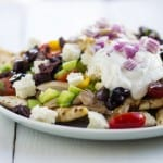 Mediterranean Nachos for Game Day #SundaySupper