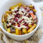 Pomegranate Roasted Vegetables with Tahini