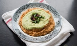 Sundried Tomato and Basil Layered Hummus