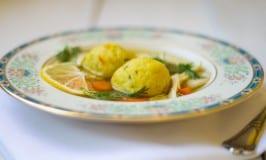 Lemon Saffron Matzo Ball Soup