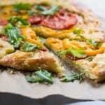 Heirloom Tomato Galette with Arugula Pesto