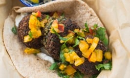 Black Bean Falafel with Heirloom Tomato Salsa