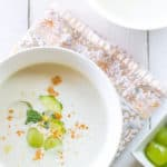 White Gazpacho for Summer Chillin' #SundaySupper