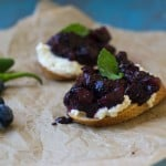 Spicy Wild Blueberry and Ricotta Crostini