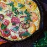 Heirloom Tomato and Polenta Quiche {Guest Post}