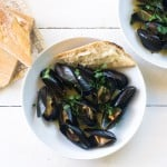 Julia Child's Mussels Mariniere