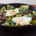 Double the Hatch Chile Chilaquiles
