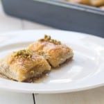 Pistachio Baklava with Orange Blossom Simple Syrup