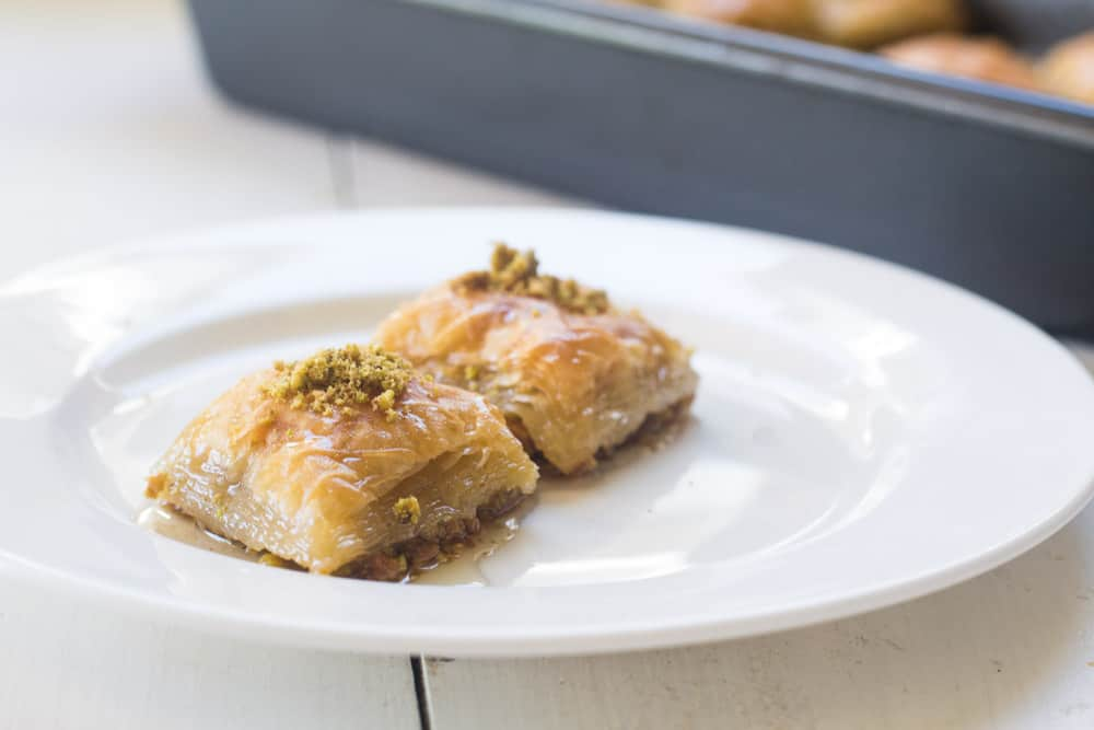 Pistachio Baklava with Orange Blossom Simple Syrup | The Little ...