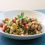 Quinoa tabbouleh is a healthy and hearty modern twist on the traditional taboulleh salad with quinoa instead of bulgar.