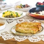 Turkish Breakfast with Eggplant Borek
