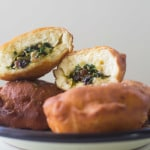 Savory Sufganiyot with Swiss Chard and Raisins