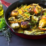 Olive Oil Braised Chicken with Citrus, Fennel and Turmeric